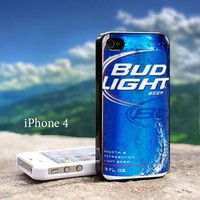 Real Bud Light Can Iphone 4 / 4s Black Case