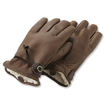 Mens Winter Leather Gloves / Bison Leather Winter Gloves -- Orvis