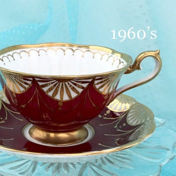 Royal Albert Tea Cup, Vintage Tea Cup and Saucer, Teacup and Saucer, Birthday Gift, Gold