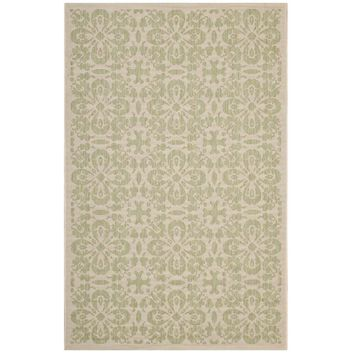 Ariana Vintage Floral Trellis 5x8 Indoor and Outdoor Area Rug - R-1142B-58