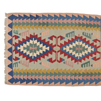 "Turkish Kilim Turkish 3' 11"" X 5' 6"" Handmade Rug"