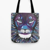 Fierce Lion Tote Bag by Kathleen Sartoris