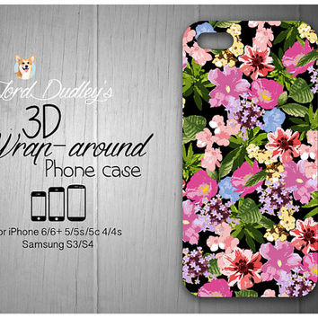 Tropical Floral Vacation Phone Case for iPhone 5/5s/5c/ 4/4s and Samsung Galaxy S3/S4/S5