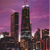 Chicago John Hancock Center at Dusk Poster 24x34