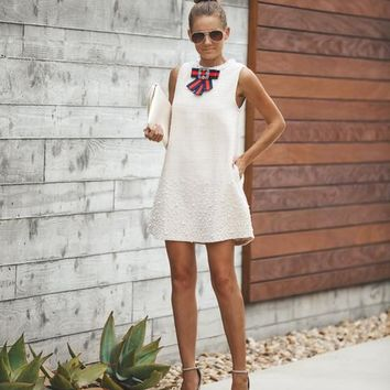 PREORDER - Phoebe Pocketed Embellished Shift Dress