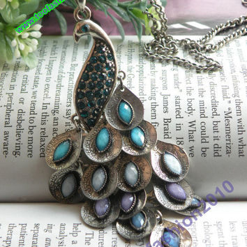 Pretty retro silver colorful crystals expanding by toofashion2010