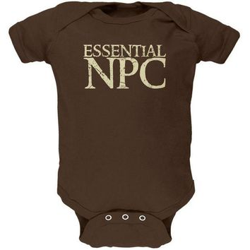 PEAPGQ9 Essential NPC Gamer Funny Soft Baby One Piece