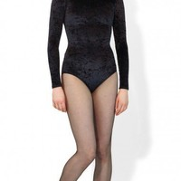 Crushed Velvet Long Sleeved Leotard - DCUK - Dance Clothes UK