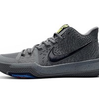 HCXX Men's Nike Zoom Kyrie 3 EP Basketball Shoes Grey Black 40-46