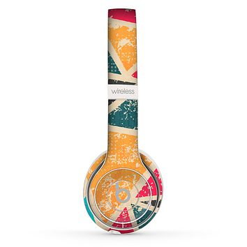 The Chipped Colorful Retro Triangles Skin Set for the Beats by Dre Solo 2 Wireless Headphones
