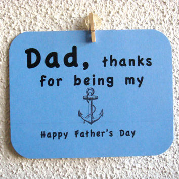 Father's Day Card Nautical Dad thanks for being by CraftColorfully