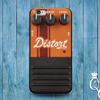 iPhone 4 4s 5 5s 5c 6 6s plus iPod Touch 4th 5th 6th Generation Cute Custom Distortion Pedal Box Orange Rock Band Music Guitar Cover Case