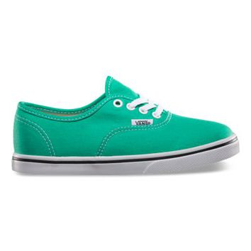 Vans Canvas Authentic Lo Pro, Girls (mint leaf/true white)
