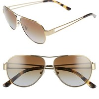 Tory Burch 55mm Polarized Aviator Sunglasses | Nordstrom