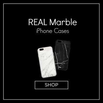 Marble Case for iPhone - Made with Real Marble! Comes in White Marble + Black Marble. Slim profile + precision fit.
