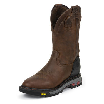 Justin Mens Wyoming Waterproof Round Toe Work Boot
