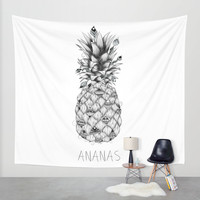 Ananas Wall Tapestry by LouJah