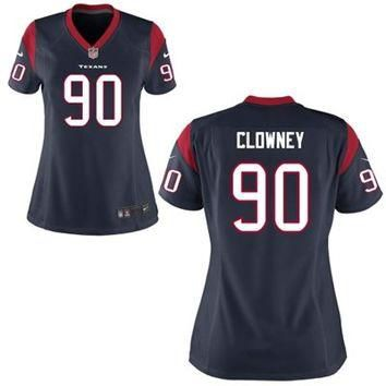 Jadeveon Clowney Houston Texans Nike Womens 2014 NFL Draft #1 Pick Game Jersey ¨C Navy