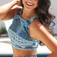 Show Me Your Mumu: crop crop - boho blue