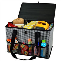 Collapsible Home and Trunk Organizer   Houndstooth