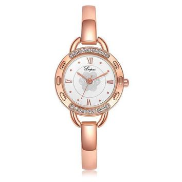 Lvpai Ladies Elegant Face Design Rose Gold Watch
