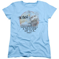 LABYRINTH/TEA-S/S WOMEN'S TEE-LIGHT BLUE