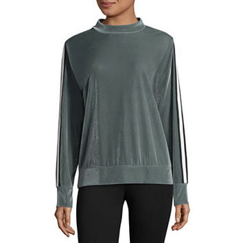 Xersion Velour Mock Neck Pullover - JCPenney