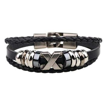 South Korea Popular Beaded /Wax /Skull /Anchor Rope Stainless Steel Accessories Wrap Bracelet For Men Jewelry