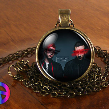 Twenty One Pilots 3 Music Band Necklace Antique Jewelry Glass Photo Pendant Gift