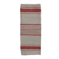 Linen Tea Towel in Red