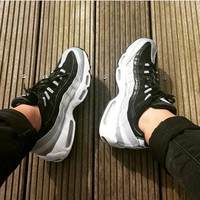 NIKE Air max  Sneakers Running Sports Shoes black-sliver-white H-CSXY