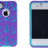 Otterbox iPhone 4 / 4S Commuter Case Purple/Peacock by 1WinR