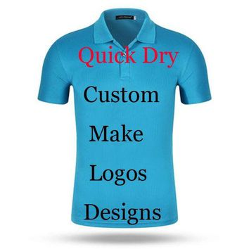 DCCKKFQ Custom Print Logos Name Quick Dry polo shirts Embroidery Heat Transfer Digital Print 100% Poly Breathable perspiration Polos Men