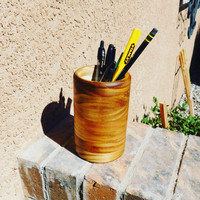 Wooden Pencil Pen Holder