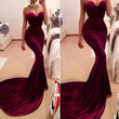 Claret Colored Strapless Maxi Dress