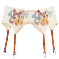 Butterfly Beauty Printed Mesh Adjustable Garter Belt (XS-L) ALMOST SOLD OUT!