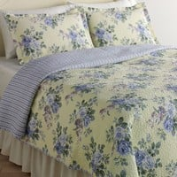 Laura Ashley Linley Floral Quilt Set - Twin