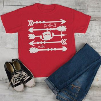 Kids Football Tribe T Shirt Arrows Football Tshirt Boy's Girl's Boho Football Shirts Game Day TShirts Toddler