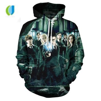 Autumn Street Standing harry potter clothes and Men's Wear Women's harry potter hoodie 3d jacket sweatshirt