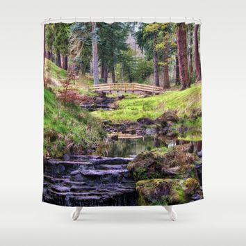 Life Flows Shower Curtain by Vicki Field