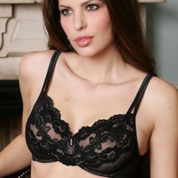 Full Figure Semi Sheer Unlined Lace Bra Casablanca