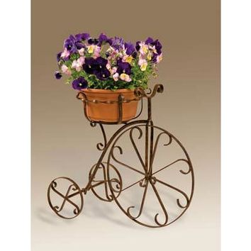 SheilaShrubs.com: Fancy Metal Bike Planter BK101X by Deer Park Ironworks: Planters