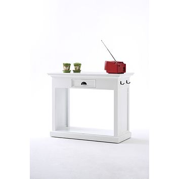 Halifax Kitchen Table Set with stools & cushions White semi-gloss