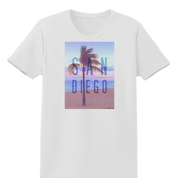 San Diego Beach Filter Womens T-Shirt