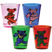 Grateful Dead Bears Shot Glasses Set