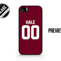 HALE 00 - Lacrosse Jersey - Derek Hale - Available for iPhone 4 / 4S / 5 / 5C / 5S / Samsung Galaxy S3 / S4 / S5 - 398