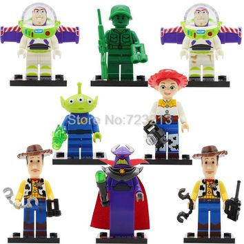 Single Sale Toy IV Story Figure Buzz Lightyear Woody Aliens Jessie Building Blocks Set Models Toys SY172 JR1712