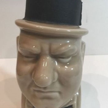 Rare Vintage WC Fields Bottle Of Kentucky Straight Bourbon Whiskey Decanter