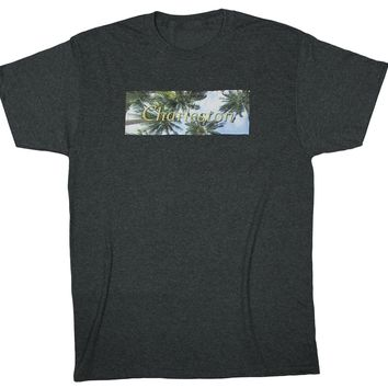 Heads Up: Taking it Easy Palm Trees T-shirt, Black Heather