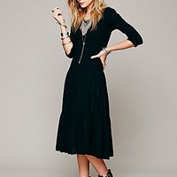 Free People Womens Desert Moon Dress - Washed Black,